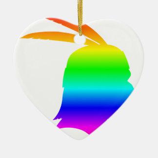 虹のネイティブアメリカン セラミックオーナメント