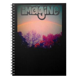 虹のノートを想像して下さい ノートブック