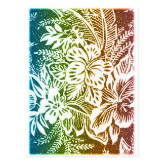 虹のハイビスカス ポストカード