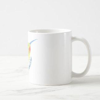 虹のハチドリ コーヒーマグカップ