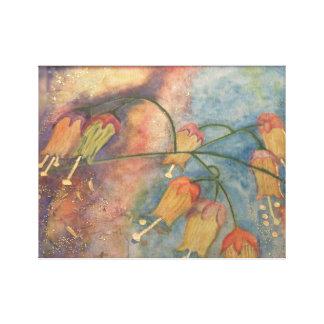 虹のハニーサックルの花 キャンバスプリント