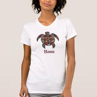虹のハワイのウミガメ Tシャツ