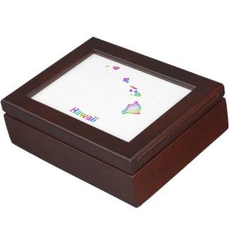 虹のハワイの地図 ジュエリーボックス