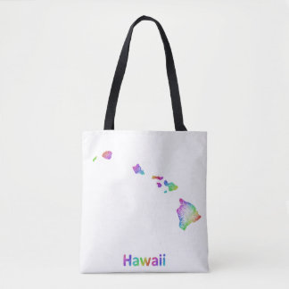 虹のハワイの地図 トートバッグ
