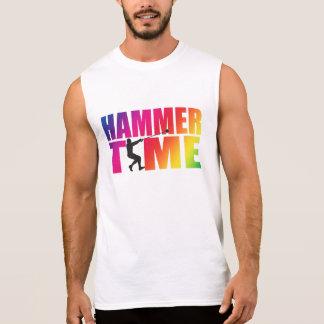 虹のハンマーの時間! 人のハンマー投げのワイシャツ 袖なしシャツ