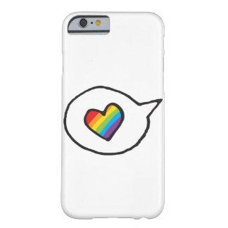 虹のハートのスピーチの泡LGBTプライド BARELY THERE iPhone 6 ケース
