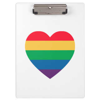 虹のハートのプライドのクリップボード クリップボード