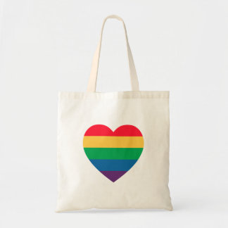 虹のハートのプライドのトートバック トートバッグ
