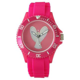 虹のハートの守り神のカスタムな腕時計のデザイン 腕時計