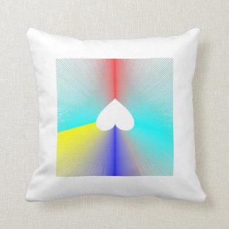 虹のハートの枕のエース クッション