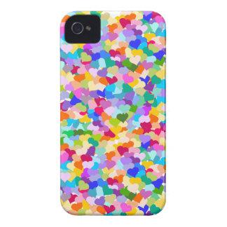 虹のハートの紙吹雪 Case-Mate iPhone 4 ケース