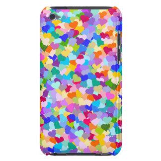 虹のハートの紙吹雪 Case-Mate iPod TOUCH ケース