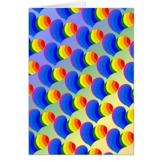 虹のハートカード カード
