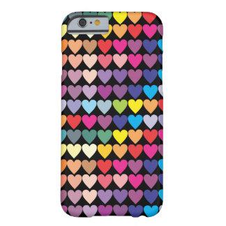 虹のハートパターン BARELY THERE iPhone 6 ケース