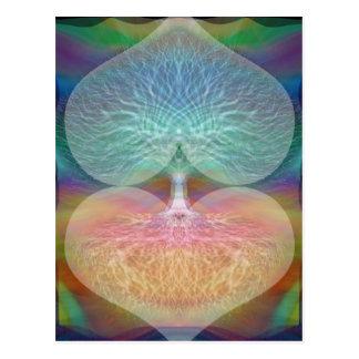 虹のハート生命の樹 ポストカード