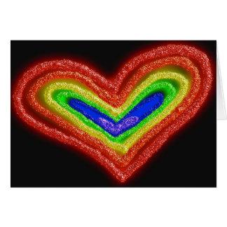 虹のハート記念日カード カード