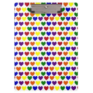 虹のハート クリップボード