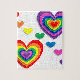 虹のハート ジグソーパズル