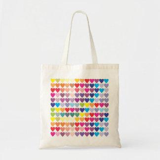 虹のハート トートバッグ