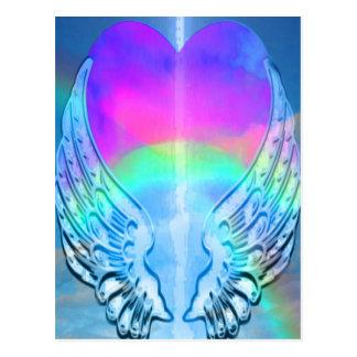 虹のハート ポストカード
