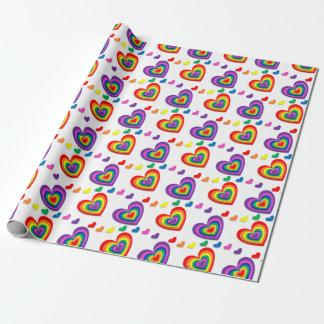 虹のハート ラッピングペーパー
