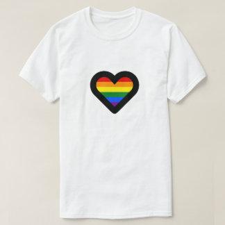 虹のハート Tシャツ