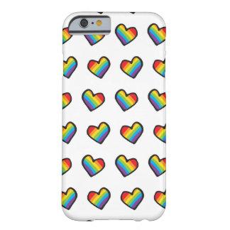 虹のハートLGBTのプライド BARELY THERE iPhone 6 ケース