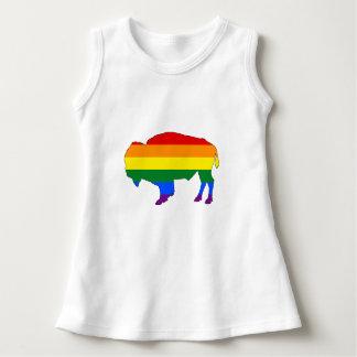 虹のバイソン ドレス