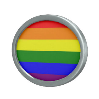 虹のバックル 卵形バックル