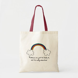 虹のバッグ トートバッグ