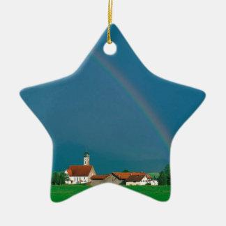 虹のババリアドイツ 陶器製星型オーナメント