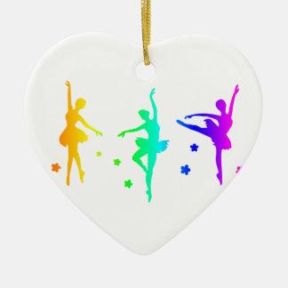 虹のバレエ セラミックオーナメント