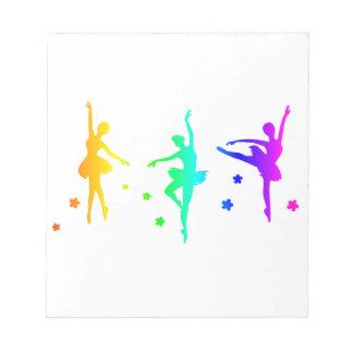 虹のバレエ ノートパッド