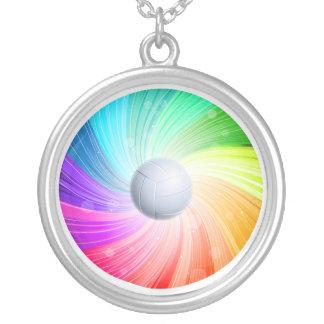 虹のバレーボール シルバープレートネックレス