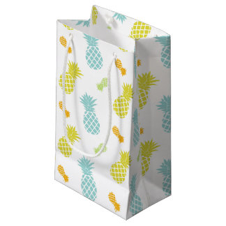 虹のパイナップルパターン スモールペーパーバッグ