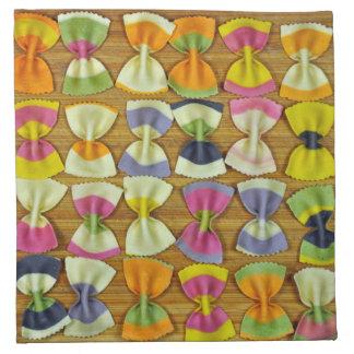 虹のパスタパターン ナプキンクロス