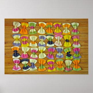 虹のパスタパターン ポスター