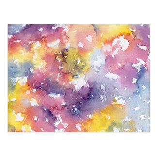虹のパステル ポストカード