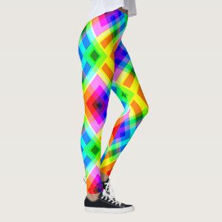 虹のパッチワーク レギンス
