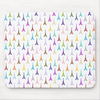 虹のパリエッフェル塔パターン マウスパッド