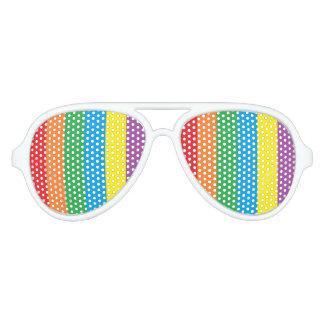 虹のパーティーの陰 アビエーターサングラス