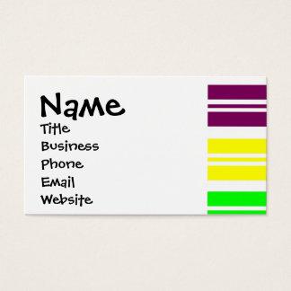 虹のヒッピーのフラワーパワーのピースサインは縞で飾ります 名刺