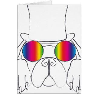 虹のヒッピー犬 カード