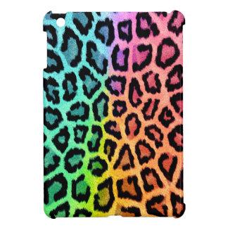 虹のヒョウのプリントのipadの小型場合 iPad mini カバー