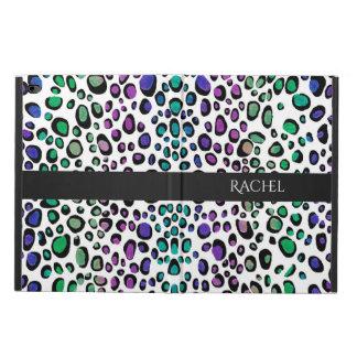 虹のヒョウのプリント POWIS iPad AIR 2 ケース