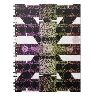 虹のヒョウの抽象芸術 ノートブック