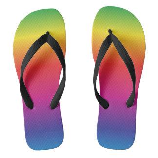 虹のビーチサンダル ビーチサンダル