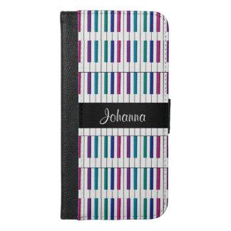 虹のピアノは名前入りなウォレットケースを調整します iPhone 6/6S PLUS ウォレットケース