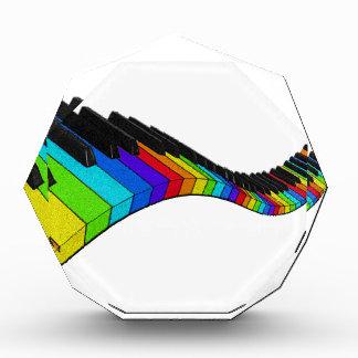 虹のピアノ 表彰盾