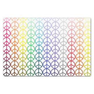 虹のピースサインのチィッシュペーパー 薄葉紙